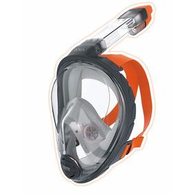 Máscara Snorkel Y Buceo Aria Ocean Reef Gris Talla L/xl