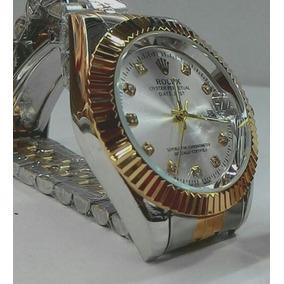 Rolex Feminino Aço Luxo Prata / Dourado Promoção