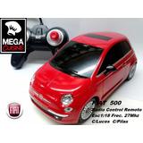 Auto Fiat 500 Radio Control Remoto Esc1:18 C/pilas C/luces