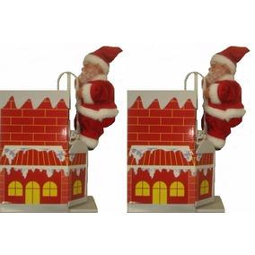 Pack 2 Viejo Pascuero, Santa Claus De Navidad A Pila