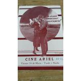 Programa Antiguo De Cine Cine Ariel