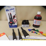 Kit Pincel Cartazista Metiq 3 Pinceis + Tinta 500 Ml Gratis