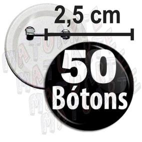 50 Botons 2,5cm Boton Broches Bottons Botton Personalizados