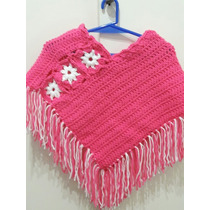 Poncho Nena Bebe Tejido A Crochet