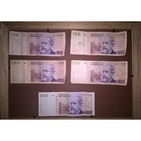 Billetes De 100 Pesos, 4convertibles + 1reposición