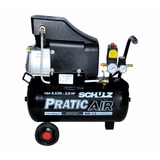 Compressor De Ar 8,2pés 25l 2cv Pratic Air Schulz C/rodas