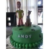 Scooby-doo Y Shaggy Adorno En Porcelana Fría Para Tu Torta