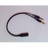 Adaptador 2 X P2 3 Vias X 1 P2 4 Vias Headset Celular
