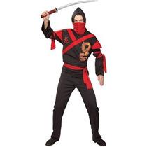 Disfraz Traje De Guerrero Dragón Ninja Rubíes Del Traje De