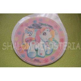 *oblea Comestible Little Pony Vintage Pastel Fondant Gelatin