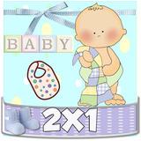 Kit Imprimible Baby Shower + Bautizo Cotillón Niño 2x1