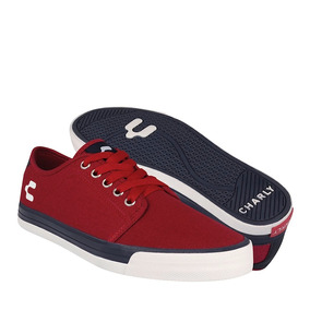 Tenis Casuales Charly Para Hombre Textil Rojo 1021851