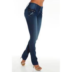 Jeans Colombianos Levanta Cola Color Azul / Grupoborder