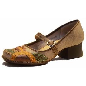 Zapato De Cuero De Mujer, Diseño Exclusivo - Ck0007