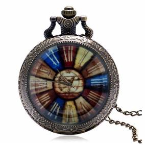 Envio Gratis Reloj De Bolsillo Estilo Antigüo Cara Colores