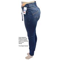 Calça Jeans Sawary Auto Ajustável Veste Do 42 A 46 Ref 7252