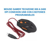 Mouse Gamer Techzone Pc,usb,6 Botones Programables Lap,