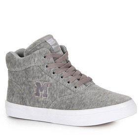 Tênis Casual Feminino Mary Jane High School Trama - Cinza
