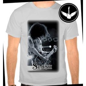 Camiseta Slash Guns N Roses Banda Rock Ou Baby Look