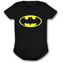 Body Infantil Personalizado Preto Super Herois Batman