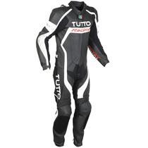 Macacão Tutto Moto Racing Branco E Preto - 1 Peça 50 - M