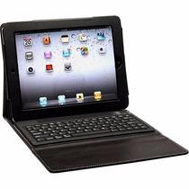 Capa Teclado Bluetooth Ipad 2,3,4 Couro Preta
