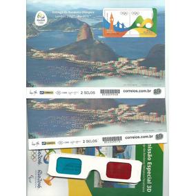Rco Kit Cartela E, 3 D Jogos Olímpicos Rio 2016 Dois Blocos