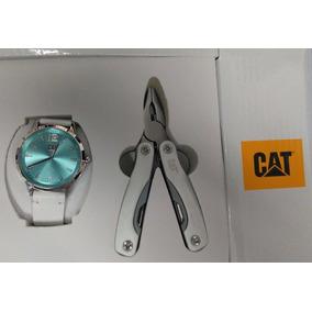 Reloj Cat Con Pinzas Multiusos Dama Piel Blanc 05.340.30.636