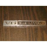 Emblema V6 3.8 Litre Chevrolet Malibu Monte Carlo