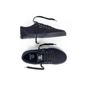 Zapatillas Vicus Full Black Suela Negra Mujer Canvas Lona .