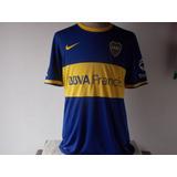 Ultimas !! Camisetas Titular Nike Boca T.2014 Tela De Juego