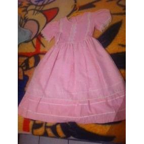 Vestido De Manta 6 Años Rosa Claro Niña Envio Gratis