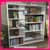 Biblioteca Minimalista Con Repisas Flotantes, Moderna (b8)