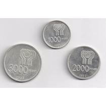 3 Monedas De Plata Mundial 1978 Cuño 1977