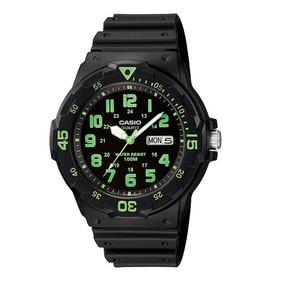 Reloj Casio Neón Resistente Agua Mrw-200h-3b Envío Gratis