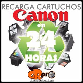 Recarga De Cartuchos Canon Precio X Los 2 Colores