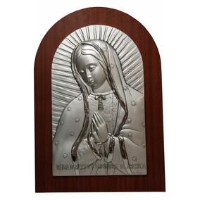 Retablo De Plata Con Imagen De La Virgen De Guadalupe