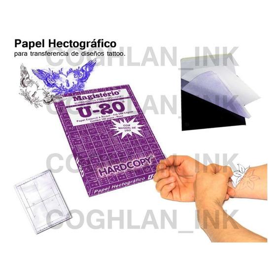 Papel Hectográfico U20 Tattoo Transfer X 10 Tatuajes Tatuar