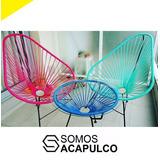 2 Sillas Acapulco + 1 Mesa Vidrio - Combo Hierro (no Caño)