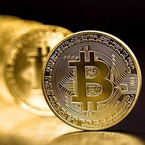 Bitcoin Moneda Onza De Colección Chapa De Oro