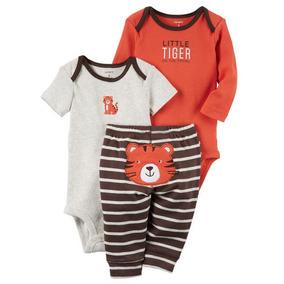 Carters Conjunto Body Calça 3 Peças Menino Roupa Bebê