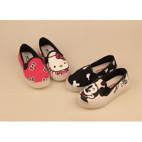 Zapatillas Leds Niñas Hello Kitty Y Mickey Mouse