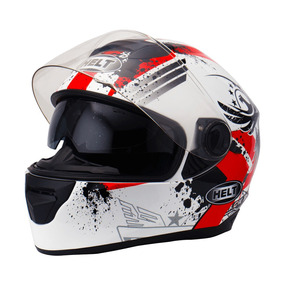 Capacete Helt New Race Glass Wings Com Óculos Fume C/nf