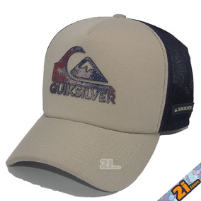 Boné Quiksilver Trucker Telinha Aba Curva Snapback Compre Já feee502c476