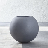 Decoración - Matera Pequeña Con Forma De Esfera - Marca Crat