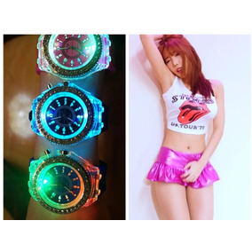 Falda Metalizada + Reloj Led Fashion Lenceria Sexy