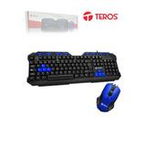 Combo Teros Te-cm2000, Teclado Usb Multimedia, Mouse Optico