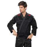 Kimono Jiu-jitsu Naja Training - Trançado - Preto A2