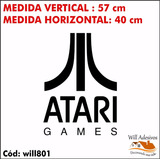 Adesivo Decorativo Marca Atari Vídeo Game Logo Jogo Will801