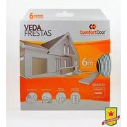 Veda Frestas Para Portas - I Branco 6 Metros - Comfort Door